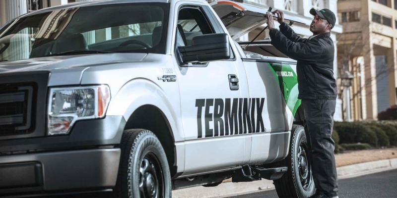 Terminix technician with service truck